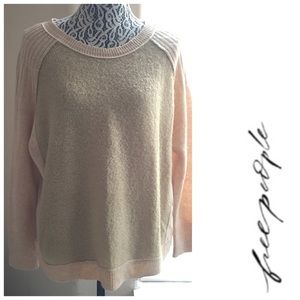 FREE PEOPLE Camel Extra Small Long Sleeve Sweater